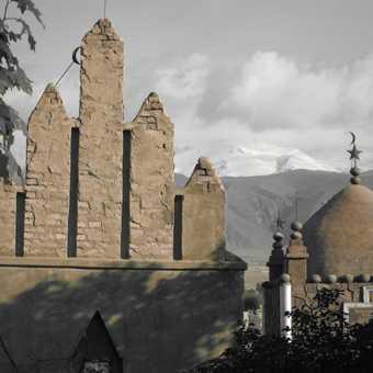 Muslim cemetery in Kyrgyzstan