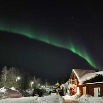 Northern Lights over the Musher's Lodge