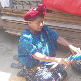 Local weaver at a Guatemalan village