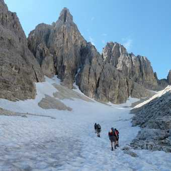 Walking to the start of the Merlone via ferrata route