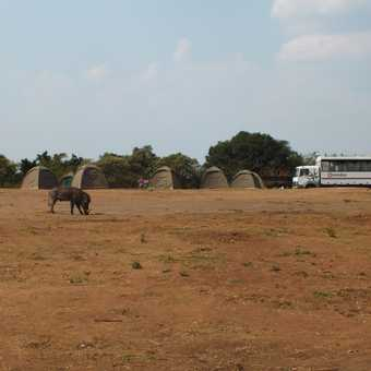 Exodus truck, crew and group crossing the Equator in Uganda
