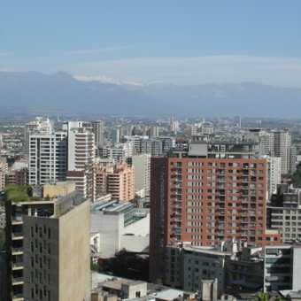 Santiago from historic Cerro Santa Lucia