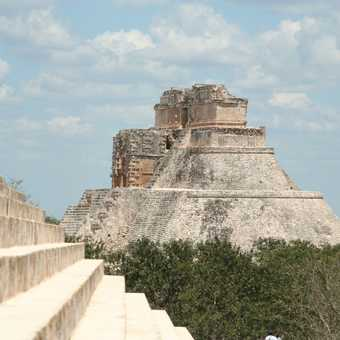 Reliefs in the nunnery, Uxmal