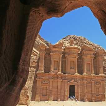 The Monastery, Petra, through cave window