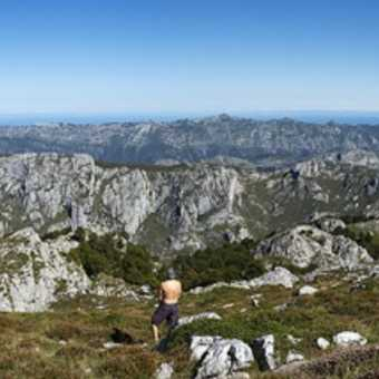 Picos de Europa looking north over Cares Gorge and towards the sea