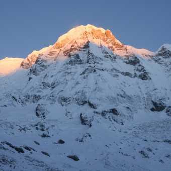 Annapurna I and its glacier