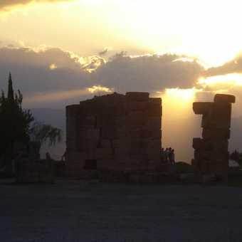 Sun set over Pamukkale