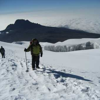 Just before the summit