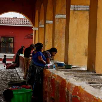 Washing day, Antigua Guatemala