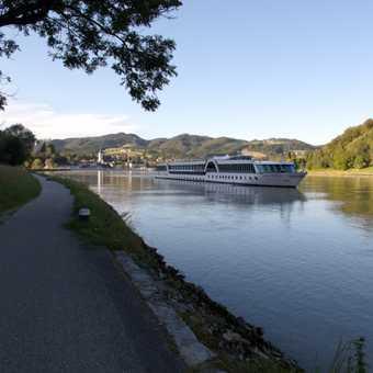 Entering Grein, Danube