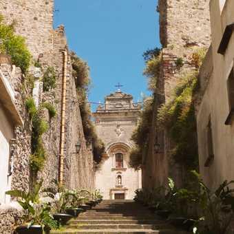 The steps to the church in Lipari