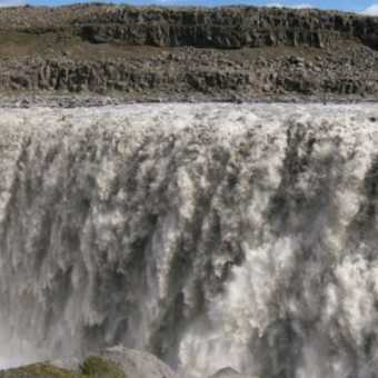Dettifoss (the largest waterfall in Europe).