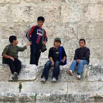 Local kids at the Roman theatre, Amman