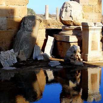 Leptis Magna - Gorgon Medusa Head Severan Forum