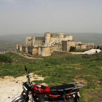 Motorbike at Krak des Chevaliers