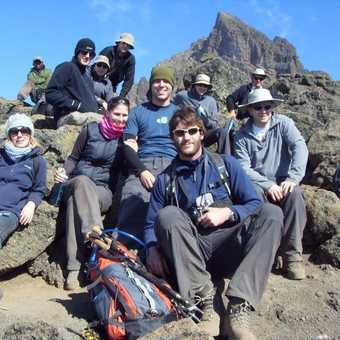 Group shot above mawenzi tarn