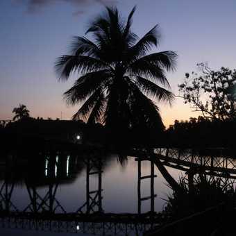 Sunset at Laguna del Tesoro.