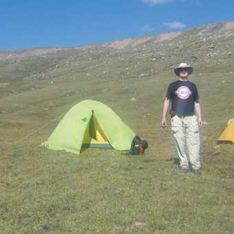 At my tent