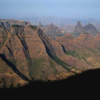 View to the western end of the Simien Mountains from Sona