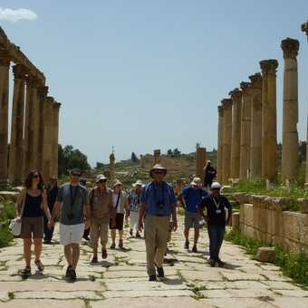 Our group in Jerash