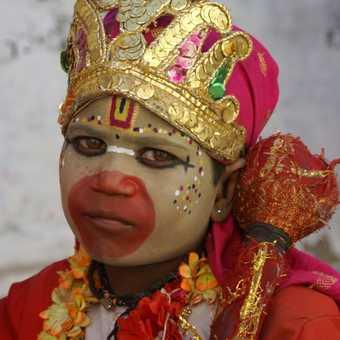 Ladakh - Temple Hanuman Boy