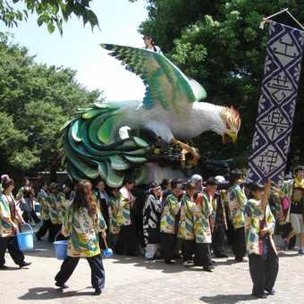 Students parade, Ueno Park, Tokyo