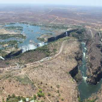 Victoria Falls from the air