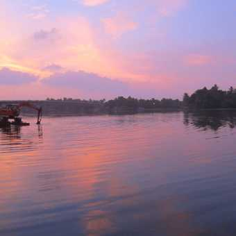 Sunset on backwaters