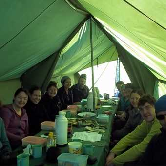 last breakfast in the mess tent