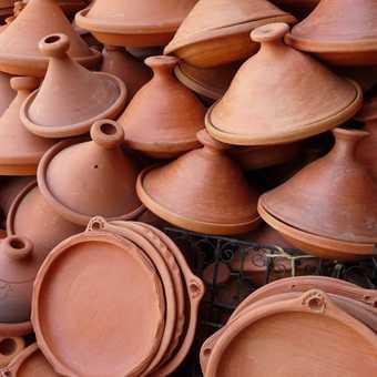 Tagines in Meknes market