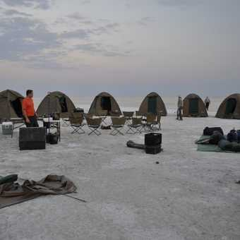 Campsite Makgadikgadi Salt Pan