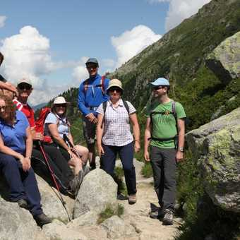 Some of the group on route to Mer de Glace