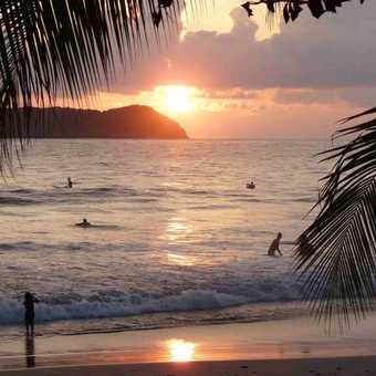 Sunset at Manuel Antonio beach