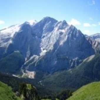 Marmolada from Pordoi (2950m)