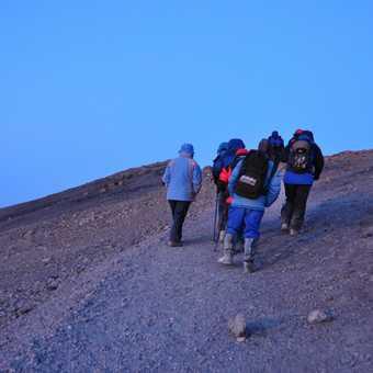 The last push to Uhuru Peak