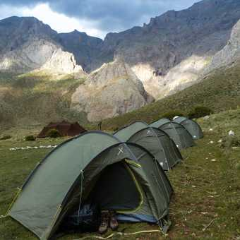 Mountain campsite