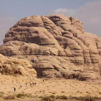 Little people Big rock Wadi Rum