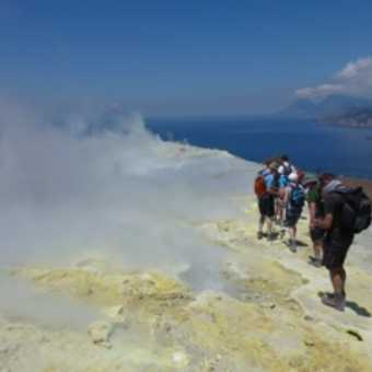 Our group on Vulcano