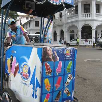 Icecream vendor in Kandy