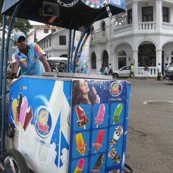Icecream vendor in Kandy
