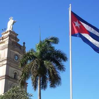 Fidel's flag.
