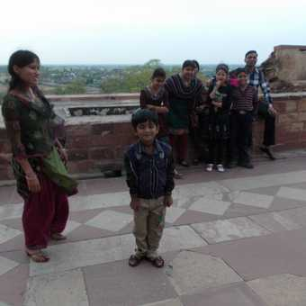 Family at Fatehpur Sikri