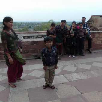 Family at Fatehpur Sikri