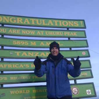 At the top!