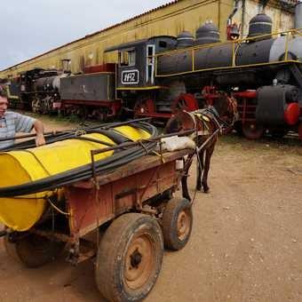 Old steam locomotives, Trinidad