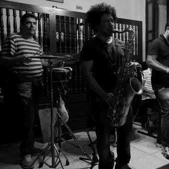"Band in the ""Cafe Paris"", Old Havan."