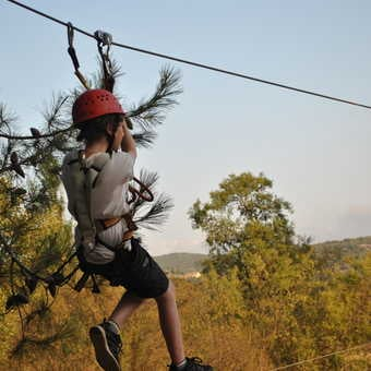 On the high rope park!