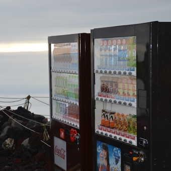 The vending machines at Fuji summit