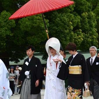 Wedding procession , Meiji shrine, Tokyo
