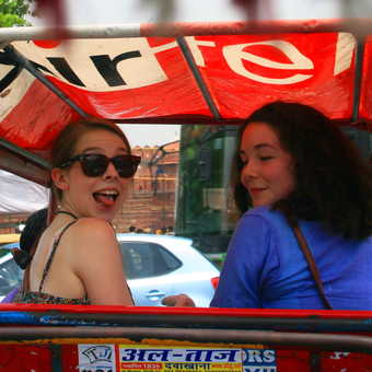Agra rickshaw ride